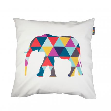 Designový polštář - Geometric Elephant