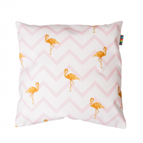 Povlak na polštář - Flamingo stripes