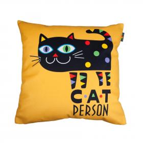 Designový polštář - Cat person