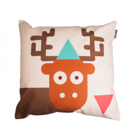 Designový polštář - Zamilovaný jelen