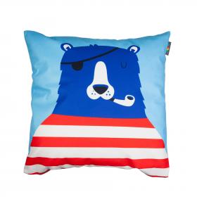 Designový polštář - Medvěd pirátem