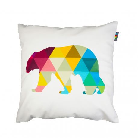 Designový polštář - Geometric bear