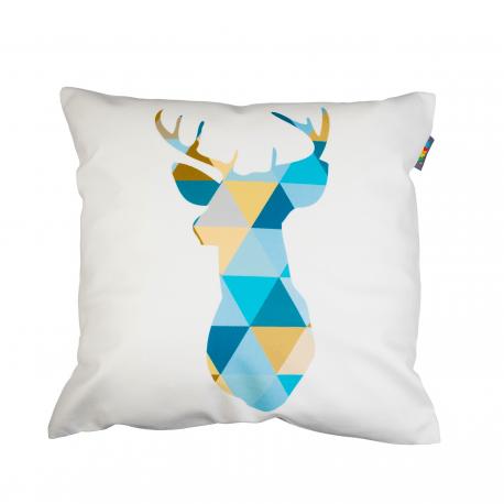 Designový polštář - Geometric deer