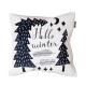 Designový polštář - Hello winter