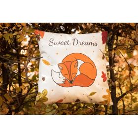 Designový polštář - Sweet Dreams Fox